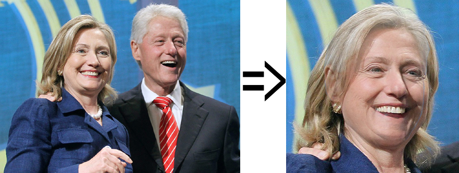 Bill and Hillary Clinton => Hilliam Billary Clinton