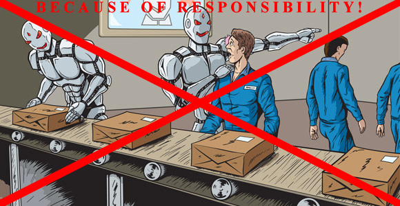 "Say ""NO"" to the Replacement of Humans by Machines !"
